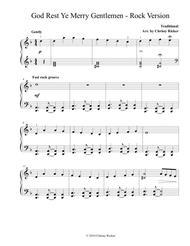 God Rest Ye Merry Gentlemen - Rock Version (Easy Piano)