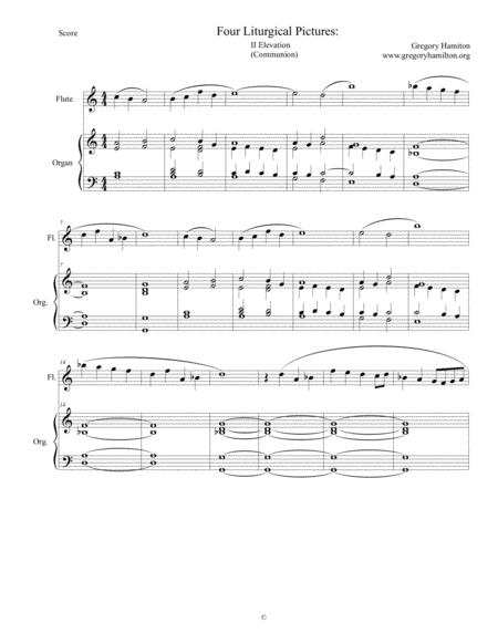 Four Liturgical Pictures for Flute and Organ: II Elevation (Communion)