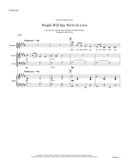 People Will Say We're In Love- vocal duet