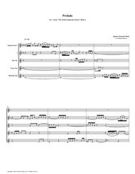 Prelude 01 from Well-Tempered Clavier, Book 2 (Saxophone Quintet)