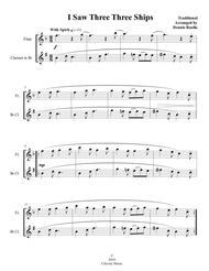 I Saw Three Ships - Mixed Woodwind (Flute & Clarinet) Duet - Intermediate