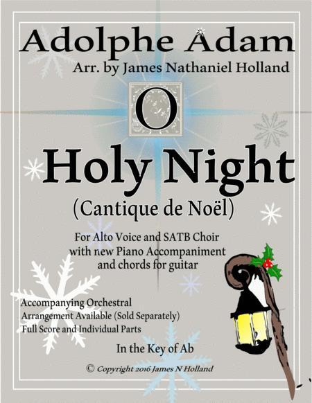 O Holy Night (Cantique de Noel) Adolphe Adam for Alto and SATB Chorus (Key of Ab)