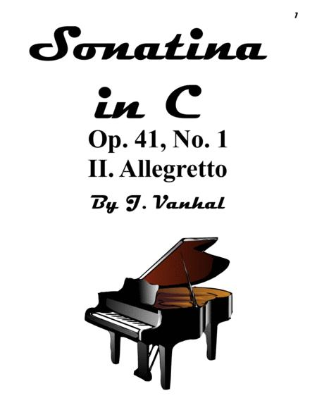 II. Allegretto - Sonatina in C Major, Op. 41, No. 1