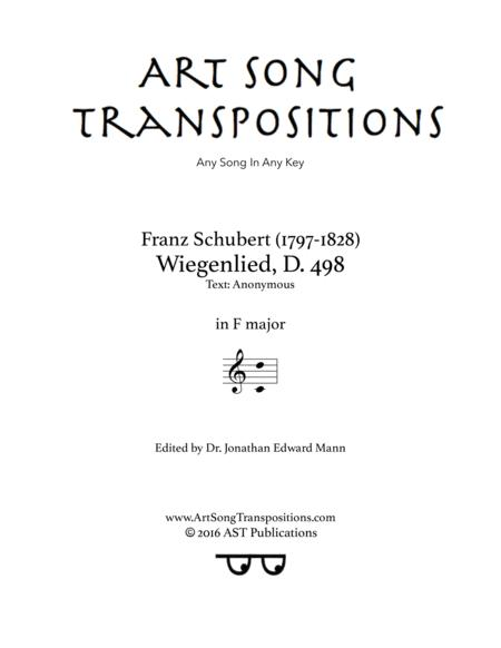Wiegenlied, D. 498 (F major)