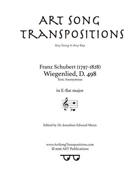 Wiegenlied, D. 498 (E-flat major)