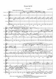 Fauré: Pavane Op.50 (transposed into F minor) - brass quintet