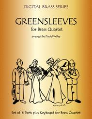Greensleeves (What Child Is This?) for Brass Quartet (2 Trumpets, French Horn, Bass Trombone or Tuba) with optional Piano