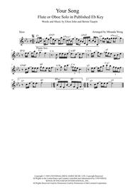 Your Song - Flute or Oboe Solo in Eb (With Chords)