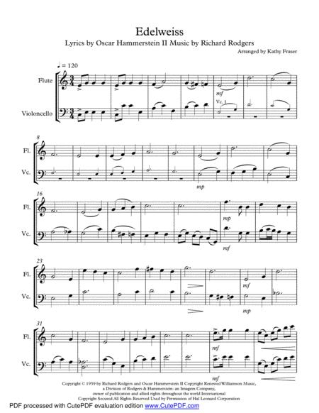 Edelweiss Duet for Flute and Cello