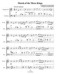 March of the Three Kings - Mixed Brass Duet (Trumpet & Trombone) - Advanced Intermediate