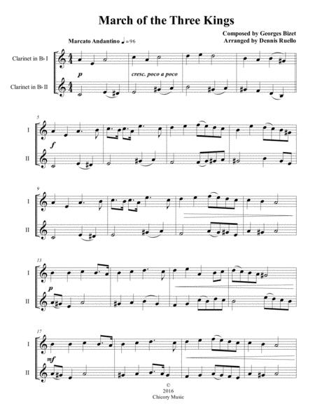 March of the Three Kings - Clarinet Duet - Intermediate