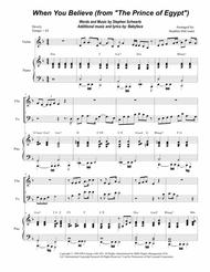 When You Believe (From The Prince Of Egypt) (Duet for Violin and Cello)