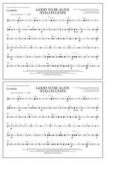 Download Good To Be Alive (Hallelujah) - Cymbals Sheet Music
