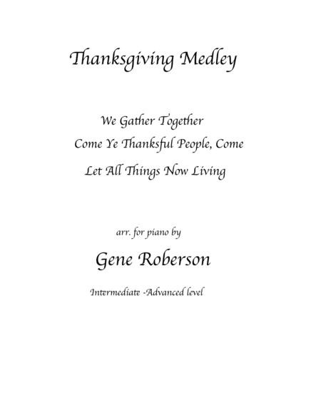 Thanksgiving  Song Medley  for Piano Solo