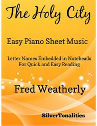 The Holy City Easy Piano Sheet Music