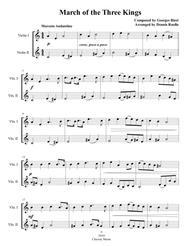 March of the Three Kings - Violin Duet - Intermediate