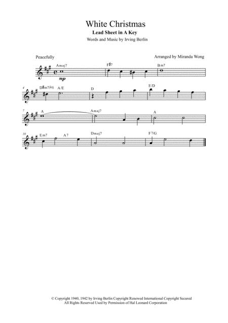 White Christmas - Christmas Music for Flute, Piano and Cello in A Key (With Chords)