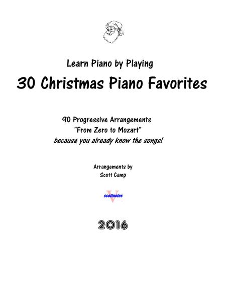 30 Christmas Piano Favorites, from Zero to Mozart