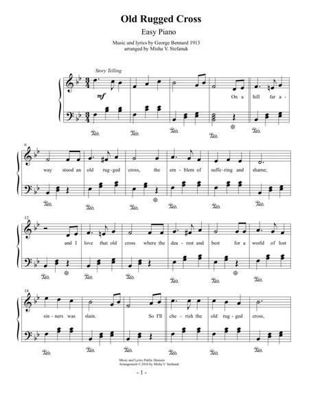 Download Old Rugged Cross Easy Piano Sheet Music By George Bennard ...