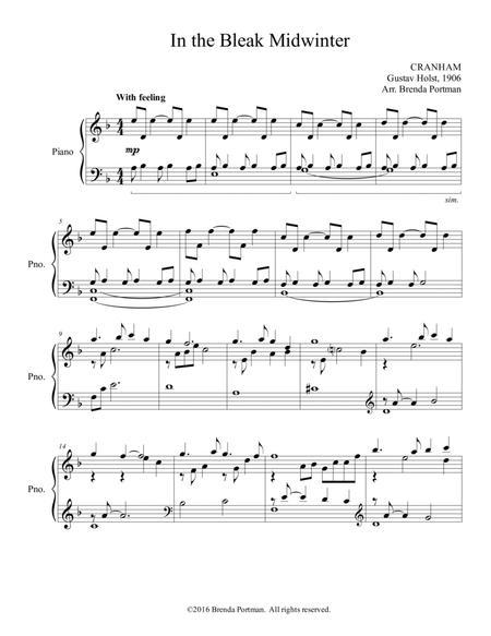 In the Bleak Midwinter - piano solo, arr. Brenda Portman