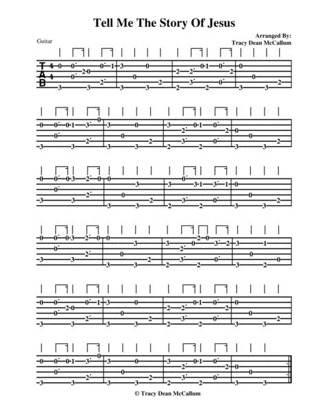 Tell Me The Story Of Jesus Guitar Tablature