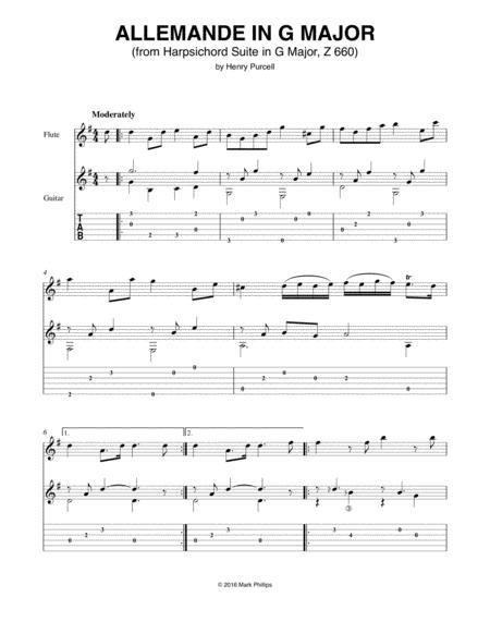 Allemande in G Major (from Harpsichord Suite in G Major, Z 660)