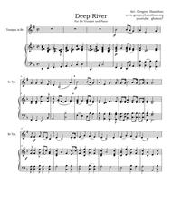 Deep River, arranged for Bb Trumpet and Piano