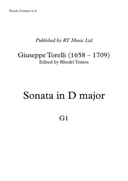 Torelli G1 Sonata for Trumpet in D major