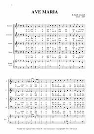 AVE MARIA - J. Arcadelt - For SATB Choir and Organ