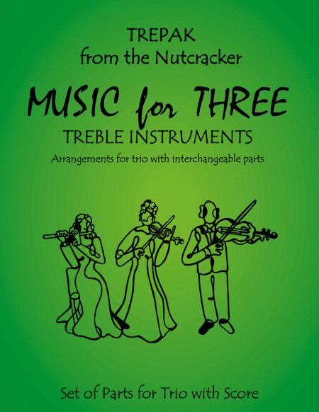 Trepak from The Nutcracker for Flute Trio (Two Flutes & Alto Flute)