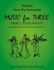 Trepak from The Nutcracker for Woodwind Trio (Flute, Oboe, Clarinet)