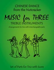Chinese Dance from The Nutcracker for Woodwind Trio (Flute, Oboe, Clarinet)