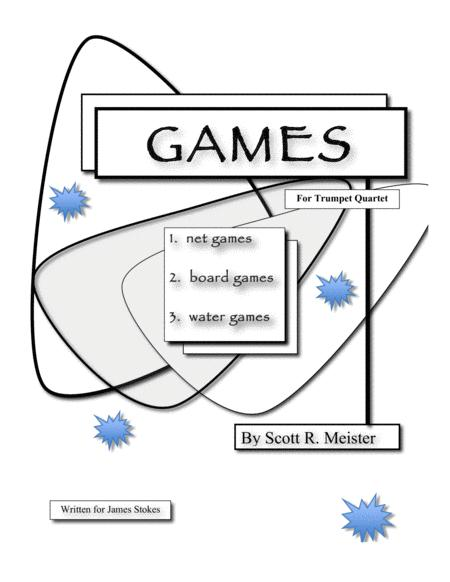 Games for Trumpet Quartet; Net Games, Board Games and Water Games