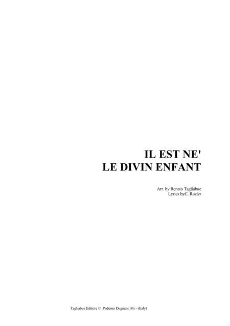 IL EST NE' LE DIVIN ENFANT - Arr. for SATB Choir (and Organ)