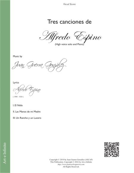 Tres Canciones de Alfredo Espino (High Voice Solo)