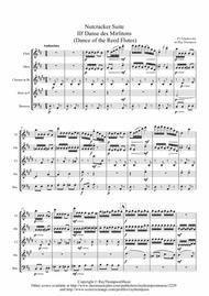 Tchaikovsky: Casse-Noisette: Nutcracker Suite IIf Danse des Mirlitons (Dance of the Reed Flutes) - wind quintet