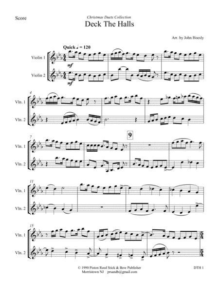 Deck the Halls- duet violin and violin