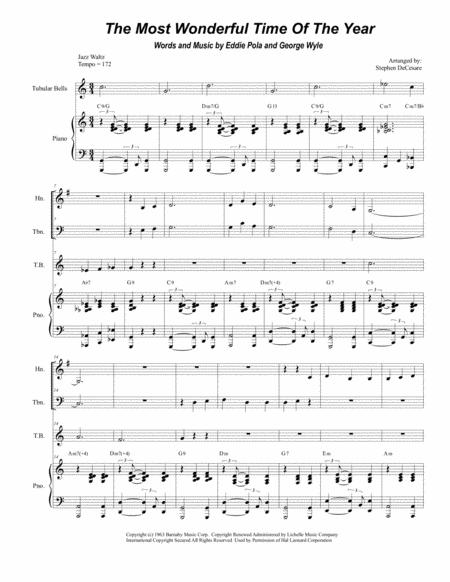 The Most Wonderful Time Of The Year (for Brass Quartet)