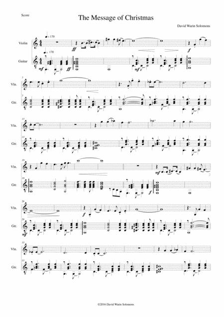 The Message of Christmas for violin and guitar