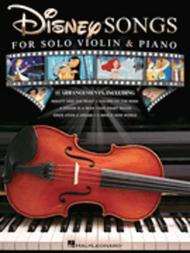 Disney Songs for Solo Violin & Piano