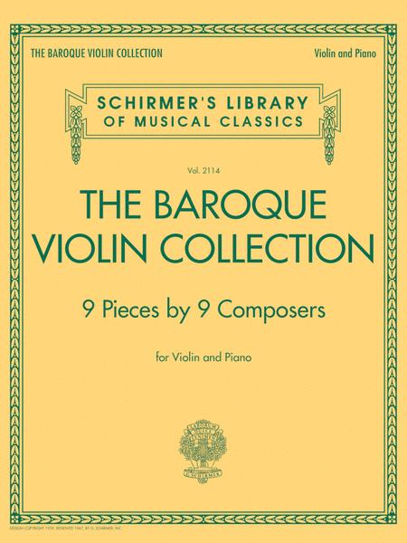 The Baroque Violin Collection - 9 Pieces by 9 Composers