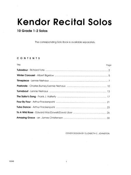 Kendor Recital Solos - Tuba - (Piano Accompaniment