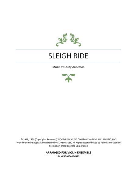 Sleigh Ride-Violin Ensemble