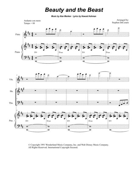 Beauty And The Beast (for Brass Quartet)