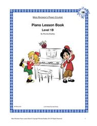 Piano Lesson Book 1B Miss Rhonda's Piano Course for Kids