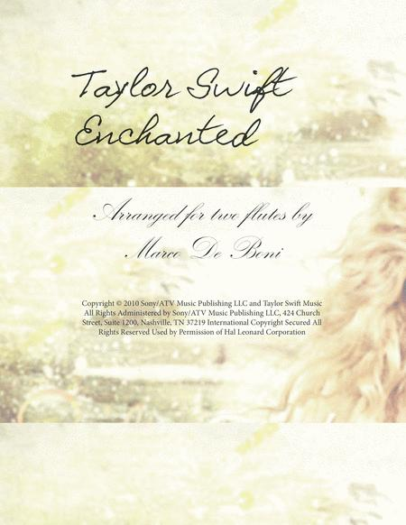 Download Enchanted By Taylor Swift For Two Flutes Sheet Music By