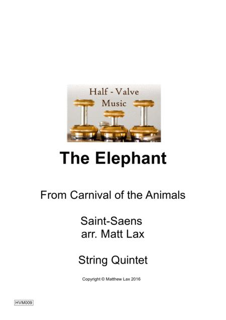 The Elephant from Carnival of the Animals (Double Bass and String quartet/string orchestra)