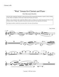 Bb Clarinet and Piano,