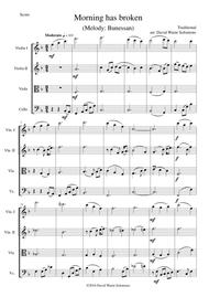Morning has broken (Bunessan) for string quartet