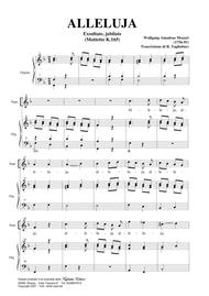 ALLELUJA (Exsultate, jubilate K.165) W.A.Mozart - Arr. for Soprano and. Organ